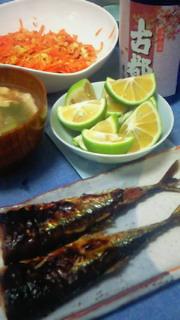 秋刀魚とひやおろし!