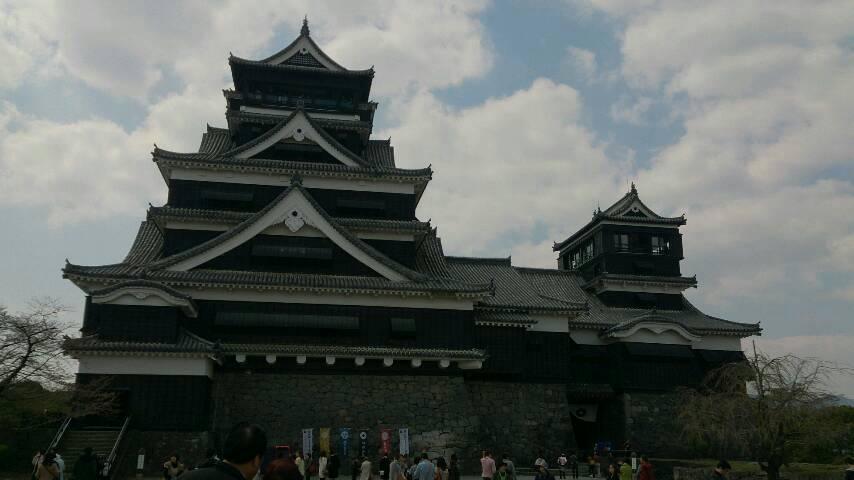 一日、熊本城!